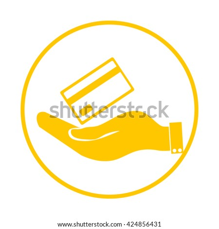 Hand credit card to pay