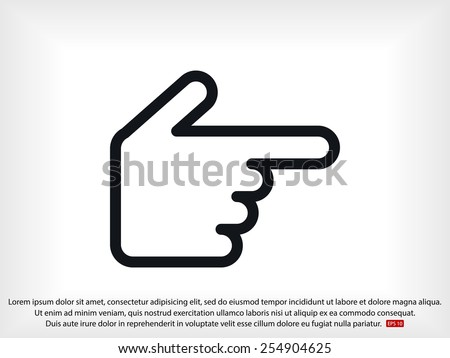 hand cursor - stock vector