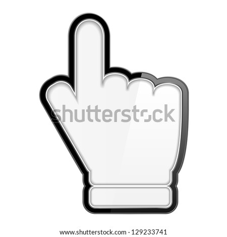 Hand cursor icon on white background, vector eps10 illustration - stock vector