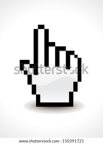 Hand Cursor Icon Vector illustration  - stock vector