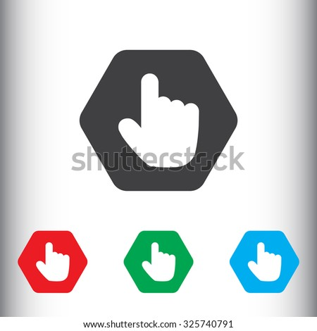 Hand, cursor, pointer sign icon, vector illustration. Flat design style for web and mobile.
