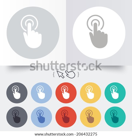 Hand Cursor Sign Icon Hand Pointer Stock Vector 173227013 ...