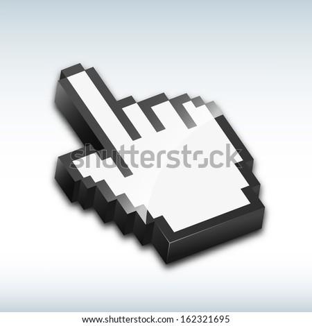 Hand cursor vector illustration - stock vector