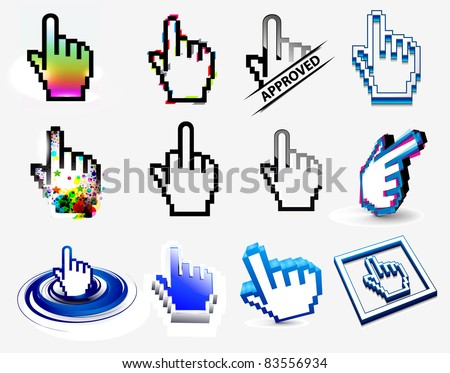 hand cursors icons