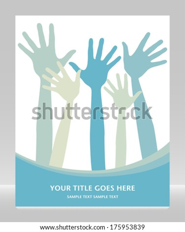 Hand design with copy space.  - stock vector