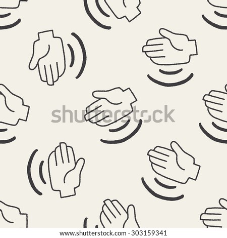 hand doodle seamless pattern background