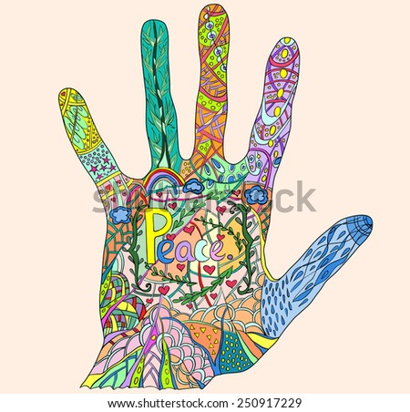 Hand draw abstract background.For prints.Fullcolor.Liner drawn.Pattern hand. - stock vector
