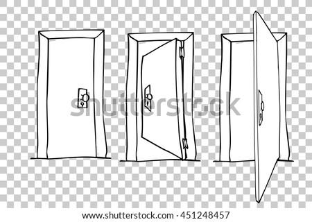 Hand Draw Sketch of Doors  sc 1 st  Shutterstock & Hand Draw Sketch Doors Stock Vector 451248457 - Shutterstock pezcame.com