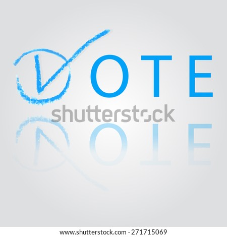 hand draw sketch of vote - stock vector