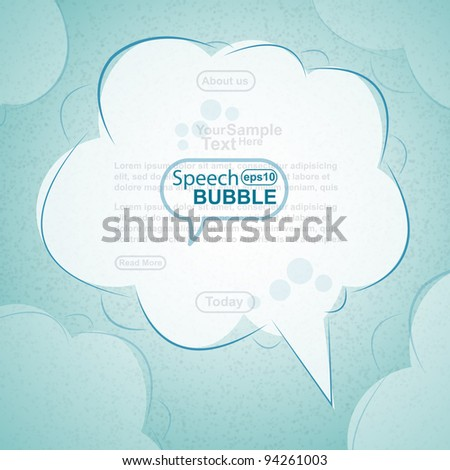 Hand draw speech bubble, vector - stock vector