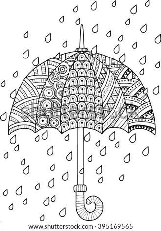 Umbrella color stock images royalty free images vectors for Umbrella coloring pages