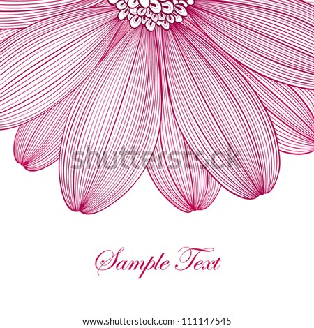 Hand drawing abstract floral background. Vector flower chamomile. Element for design. - stock vector