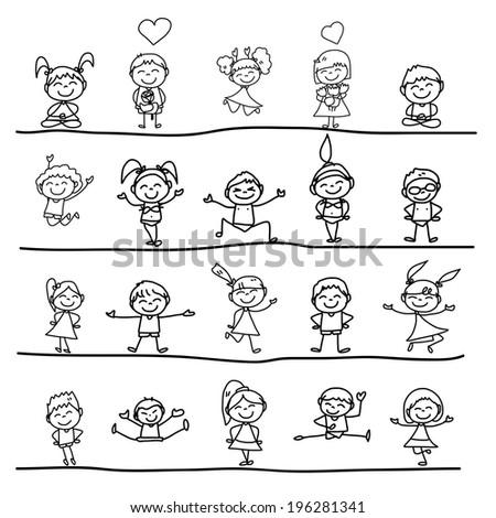 Seeds Concept Cartoon Hand Drawing Cartoon Concept