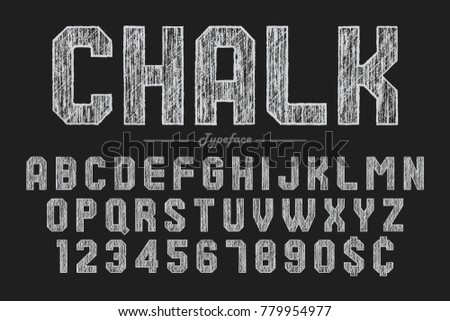 hand drawing chalk font for chalkboard pub and bar design vector illustration