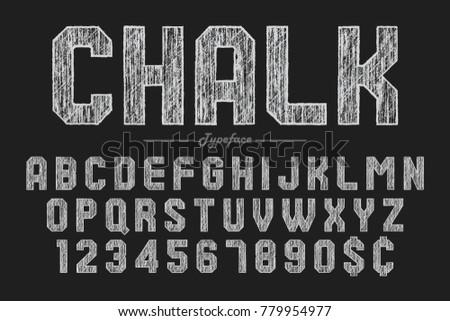 hand drawing chalk font for chalkboard pub and bar design vector illustration