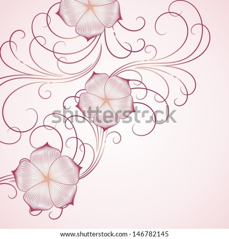 Hand-drawing floral background.