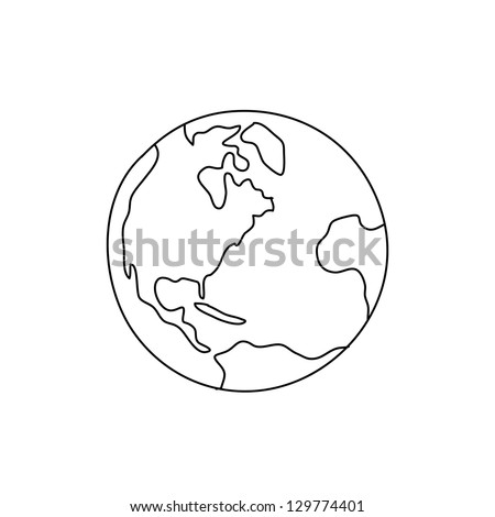 hand drawing freehand sketch globe vector for design. Credit: NASA - stock vector