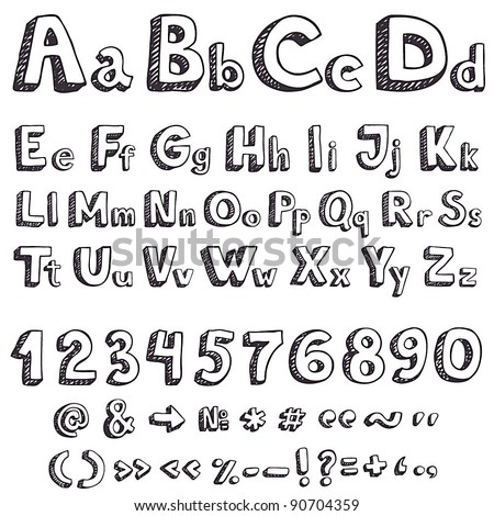 Worksheets Drawing Letters letter drawing stock images royalty free vectors hand vector letters
