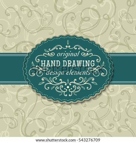hand-drawing vintage frames