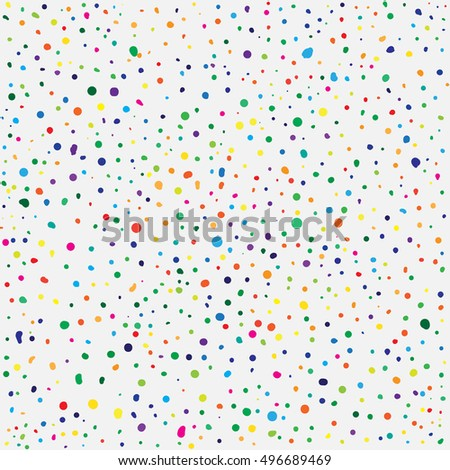 Hand drawn abstract background. Colorful grunge texture. Dot work. Vector Illustration.