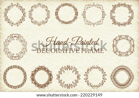 Hand drawn abstract background ornament frame illustration concept. Vector decorative retro banner of card or invitation design. Vintage traditional, Islam, arabic, indian, ottoman motifs, elements.  - stock vector
