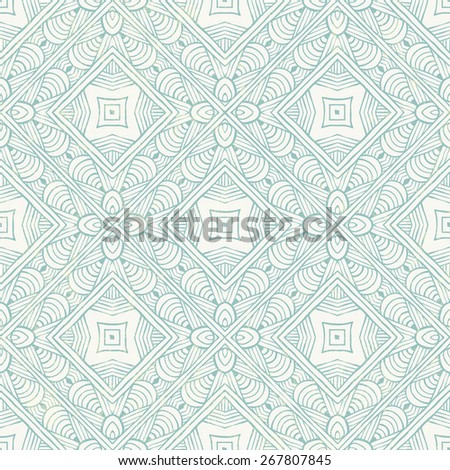 Hand-drawn abstract blue pattern. EPS 10 vector illustration. - stock vector