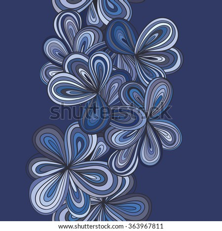 Hand-drawn abstract seamless pattern. used as background. - stock vector