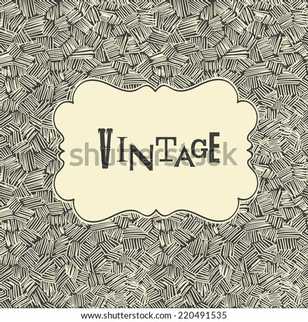 Hand-drawn abstract seamless pattern. Vector - stock vector
