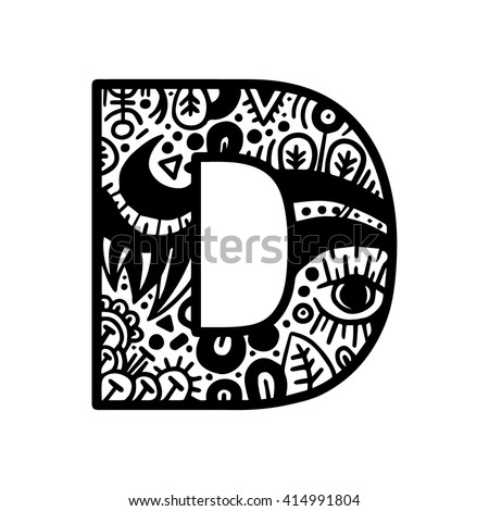 Hand drawn alphabet letter d vector stock vector hd royalty free hand drawn alphabet letter d vector isolated on white background for shirt design tattoo altavistaventures Gallery