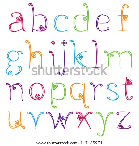 Girly Alphabet Stock Images, Royalty-Free - 50.8KB