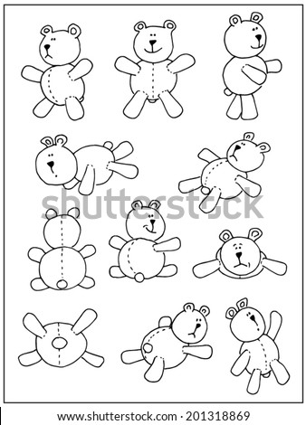Hand drawn animals isolated on white background - stock vector