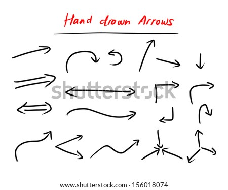 hand drawn arrows set isolated on stock vector royalty free