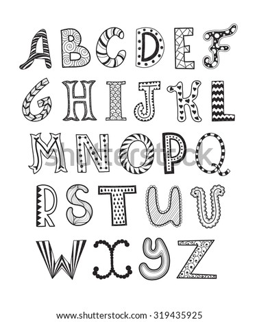 Doodle Font Stock Images Royalty Free Images Amp Vectors