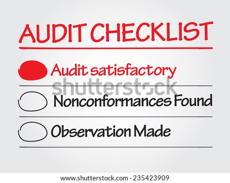Hand drawn Audit checklist vector business concept - stock vector