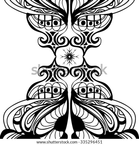 Hand Drawn Zentangle Ornate Doodle Cat Stock Vector