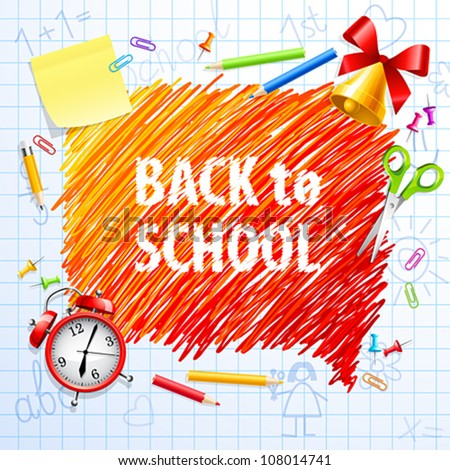 Hand drawn Bubble for speech � Back to School. Vector illustration. - stock vector