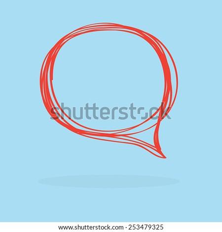 Hand drawn bubble speech vector - stock vector