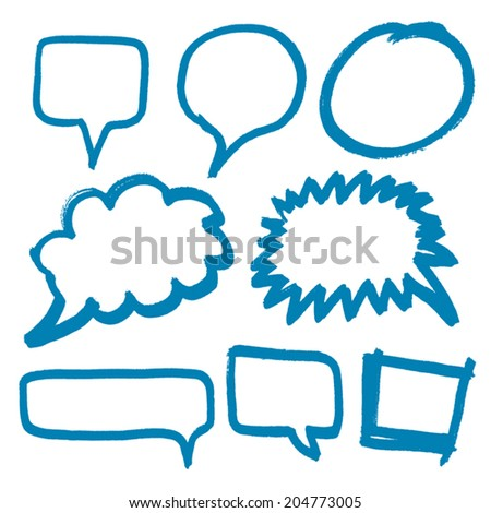 Hand drawn bubbles collection. Vector illustration. - stock vector