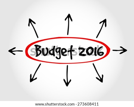 Hand drawn Budget 2016, business concept - stock vector