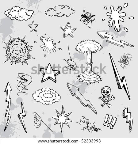 Hand drawn cartoon design - stock vector