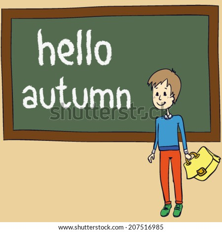 Hello Autumn Drawing With Words Hello Autumn