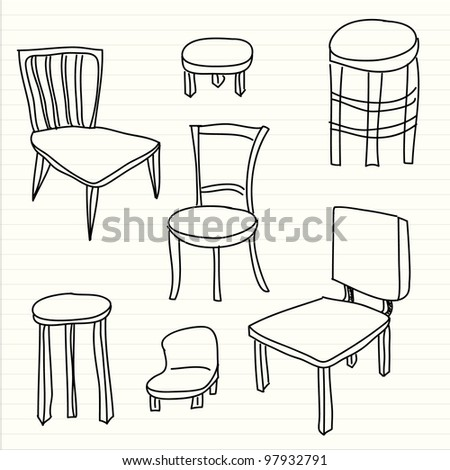 Chair Sketch sketch chairs stools stock images, royalty-free images & vectors