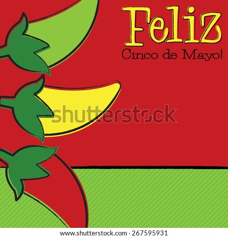 Hand Drawn Cinco de Mayo Chili Pepper in vector format. - stock vector