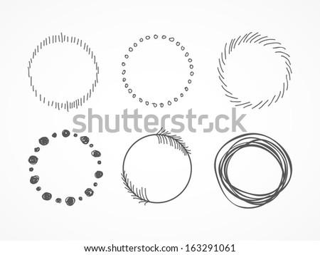 Hand drawn circles - stock vector