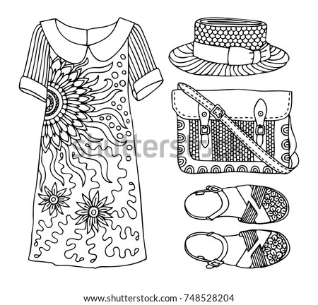 Fashion Logo Coloring Pages