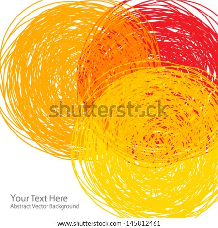hand drawn colorful background, abstract illustration - stock vector