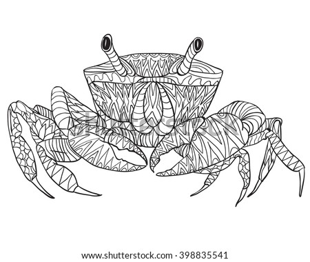 coloring pages crab - sea life stock photos royalty free images vectors