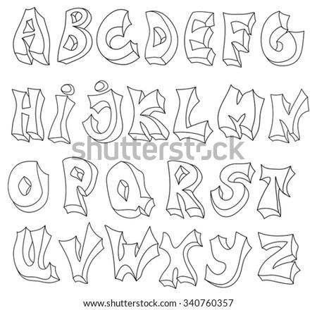 Hand Drawn 3d Font
