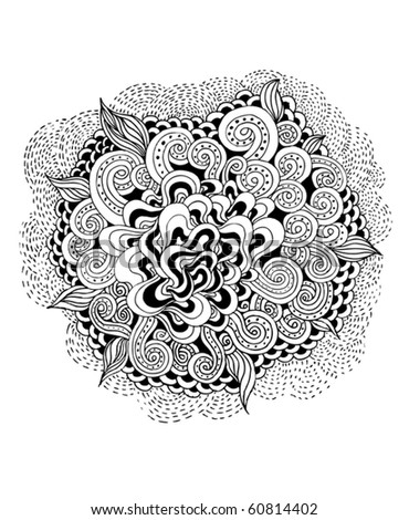 hand-drawn design element - stock vector