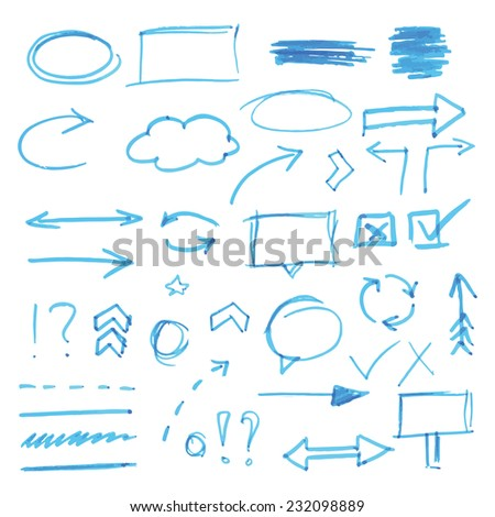 Hand-drawn design elements - stock vector